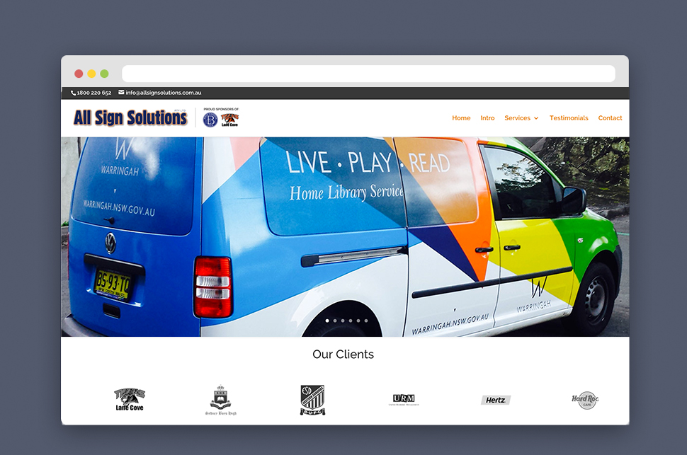 All Sign Solutions Website